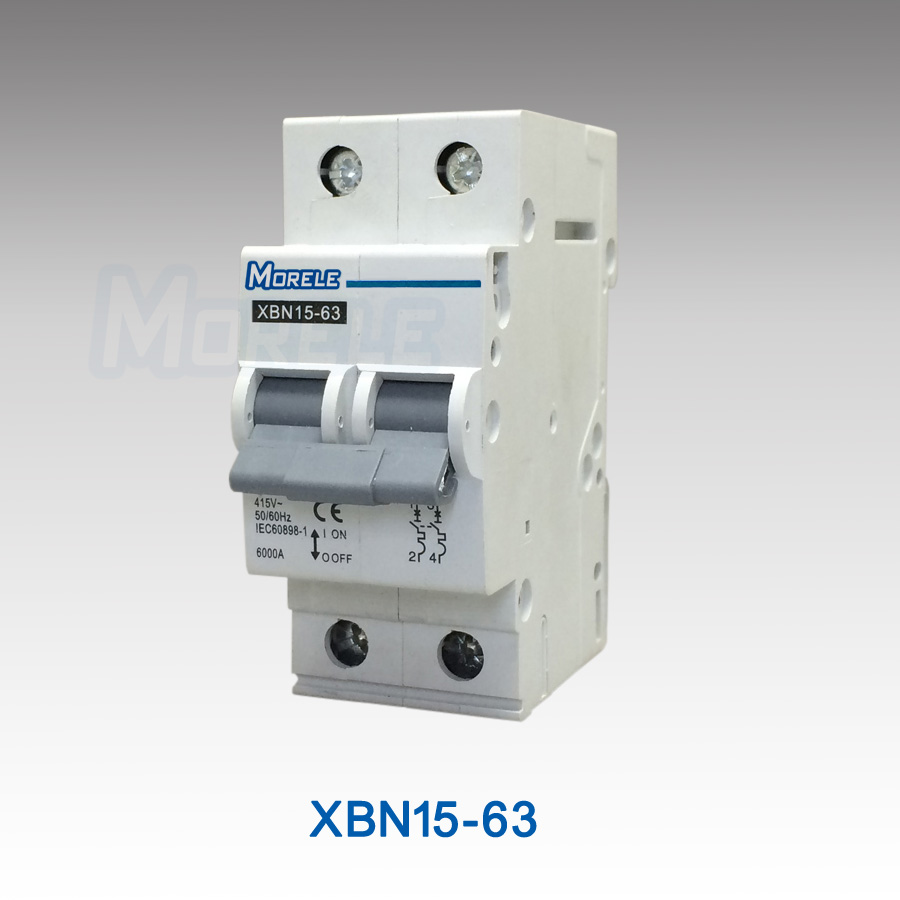 XBN15-63 2 pole miniature circuit breaker