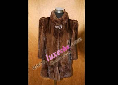 sell whole america & euro mink coat 100% handwork ,custom made coat products