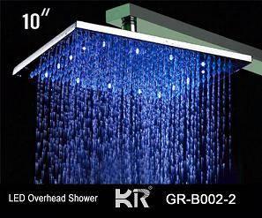 colorful led overhead shower, head shower