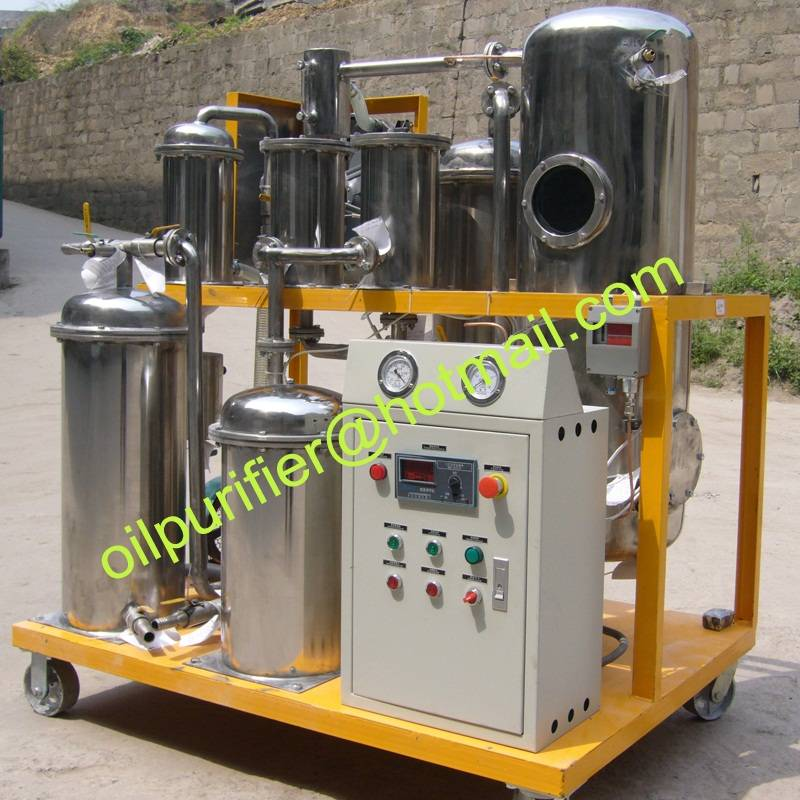 Portable Used Hydraulic Oil Purifier Machine,Oil purification Plant with stainless steel filtering e