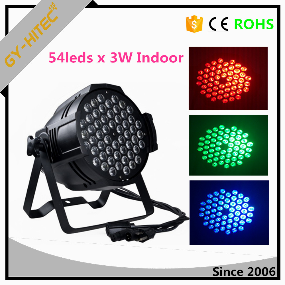 Indoor 54pcs 3W LED Par light,led par can light Par 54 wedding party lights