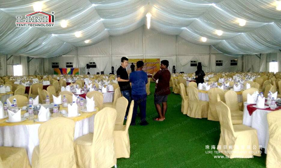 Luxury Wedding Tent with Roof Lining and Curtains
