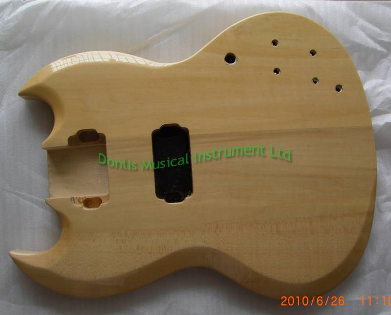 Basswood SG guitar body