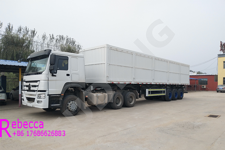 Durable 3 axle 40ft sidewall cargo semi trailer box side wall bulk cargo transport trailer