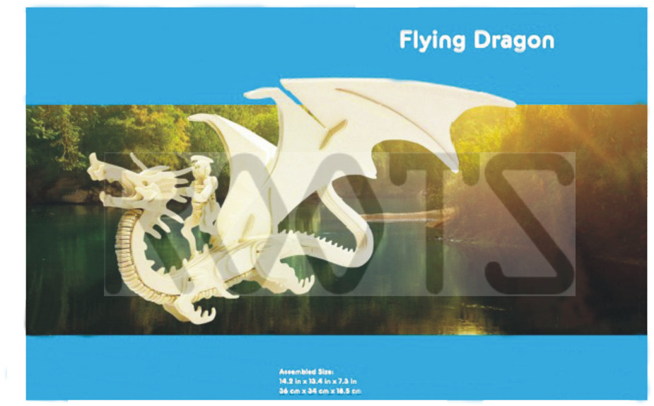 Flying Dragon-3D wooden puzzles, wooden construction kit,3d wooden models, 3d puzzle
