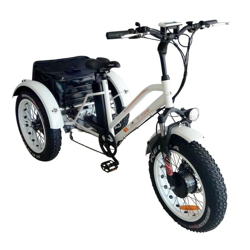 BPM 24' 3 Wheel Electric Trike Fat Tire Bike Bicycle 750W 48V 13AH