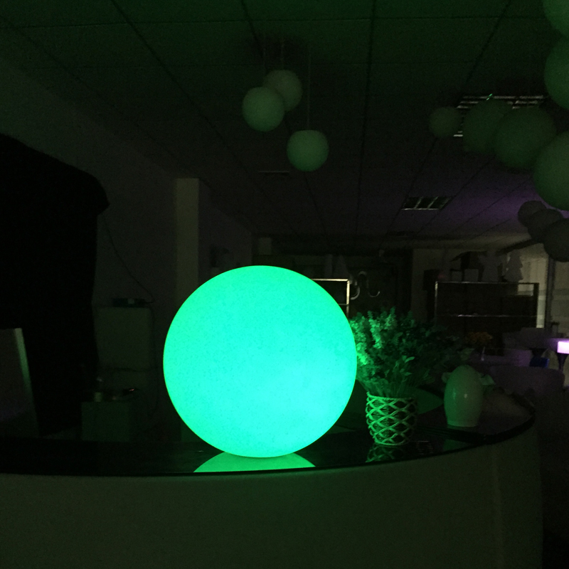 25cm Outdoor Led Glow Ball Light 16 Color Changing Ball