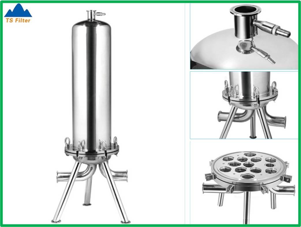 Sanitary Design 316L Stainless Steel Cartridge Filter Housing, Code 7 Filter Housing