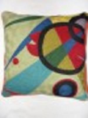 Crewel Chainstitch Pillow Wild Timothy Multi Cotton (20x20)