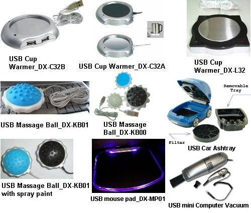 USB cup warmer/computer vacuum/mouse pad/massage ball/ashtray