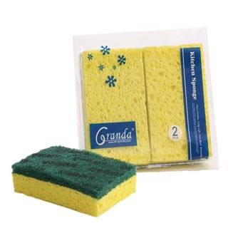 Kitchen Cleaning Cellulose Sponge, Nylon Scouring Pads with Cellulose sponge