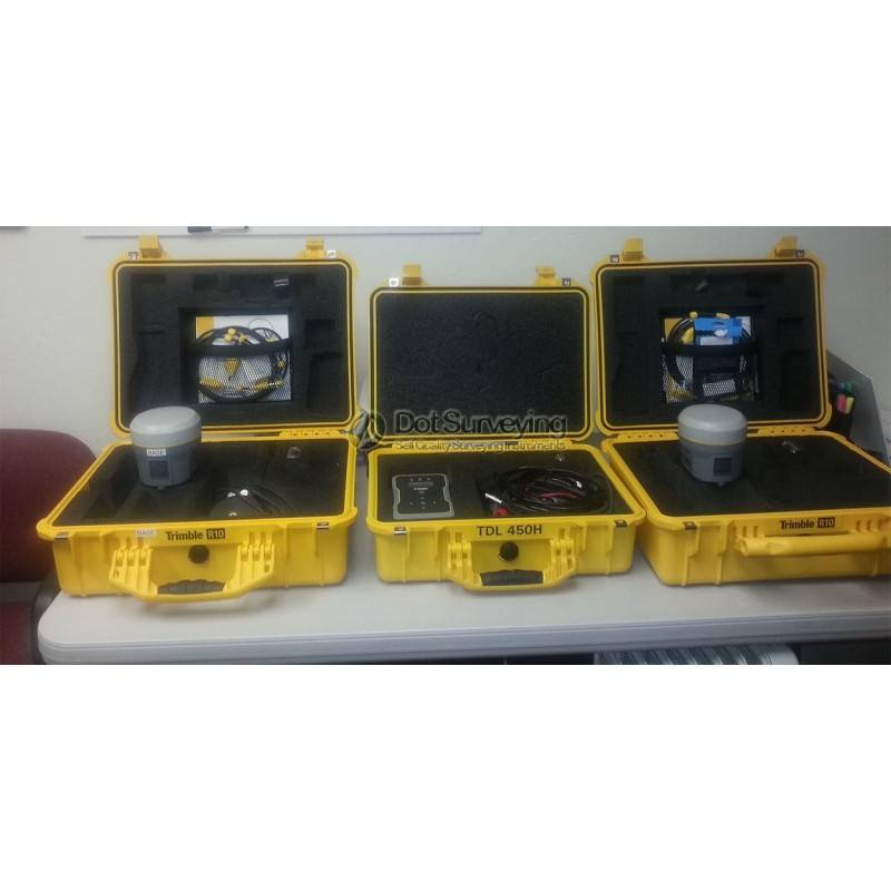 Trimble R10 GNSS RTK Base Rover with TDL-450H and TSC3 - Dot