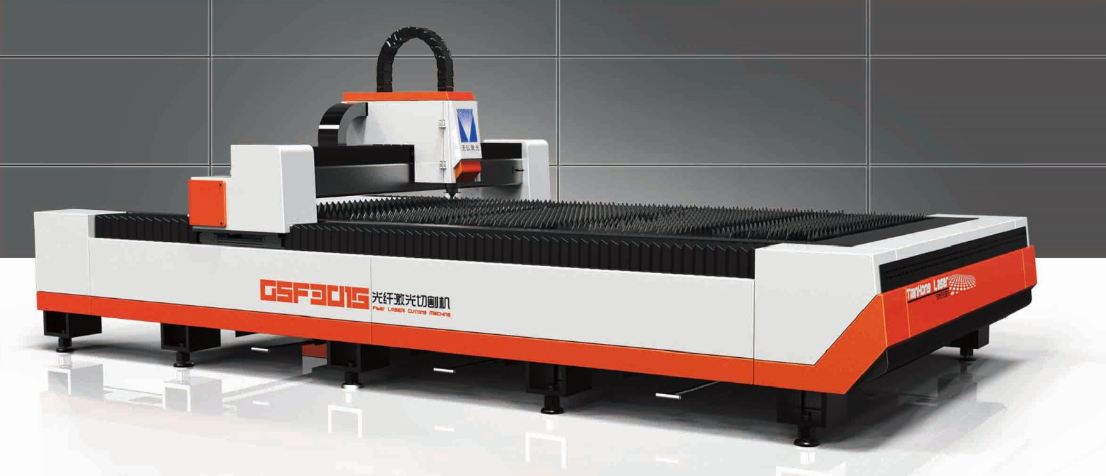 Fiber Laser Cutting Machine, Gantry, Metal Plate Solutions, GMC ISO9001:2008, CE