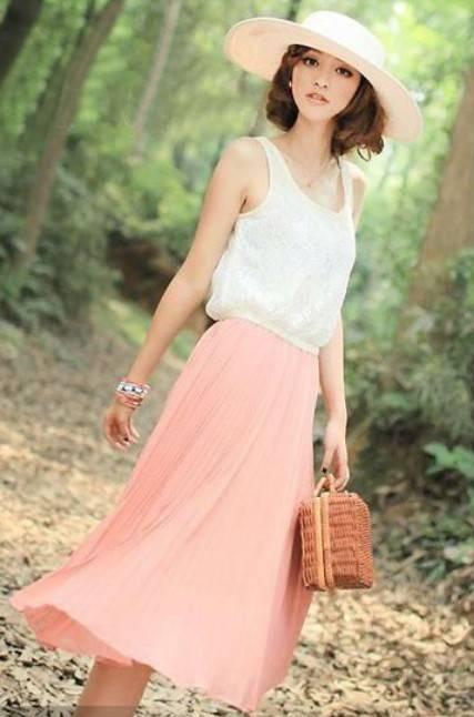 Lace Split Chiffon Round Neck One-piece Dress