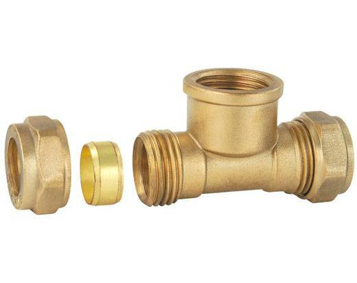 Compression Fittings, Made of Brass, Available in Various Sizes and Colors