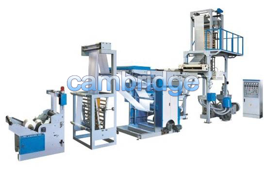 Union of PE Film Blowing Machine with Flexographic Printing Machine