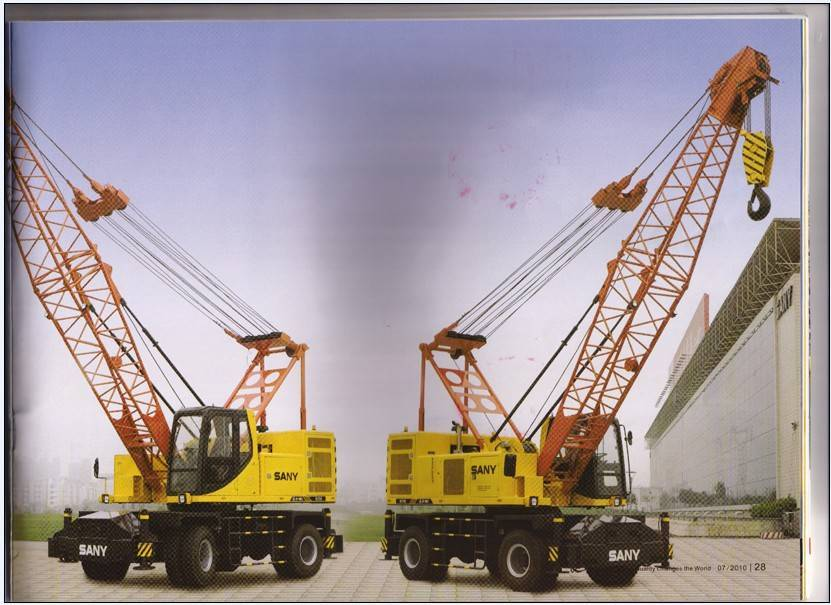 Sany truck mounted crane and tyre crane