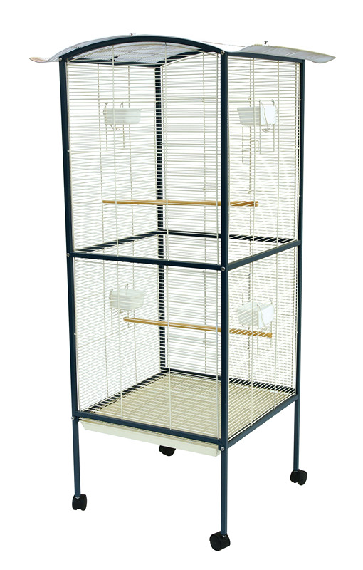 Metal Parrot Cages with Plastic Feeders