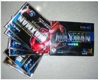Maxman Delayed Sex Wipe Product