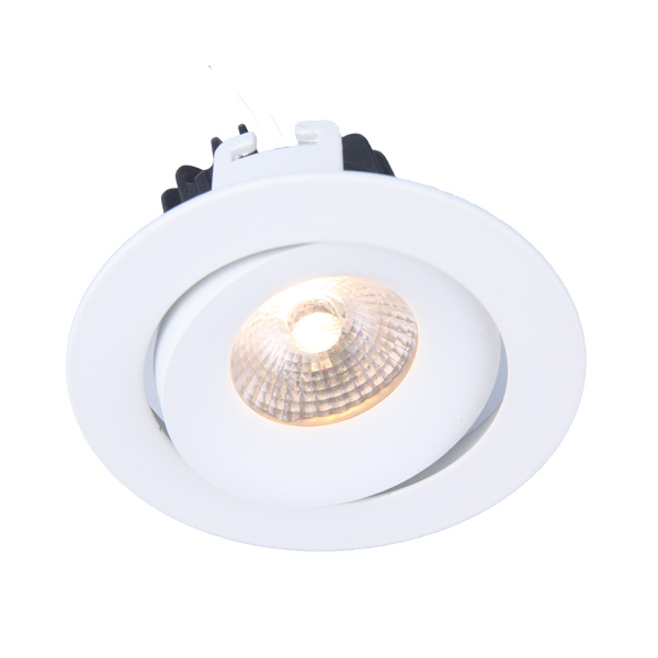 Adjustable 10W COB led downlight Texture White ( MS31001)