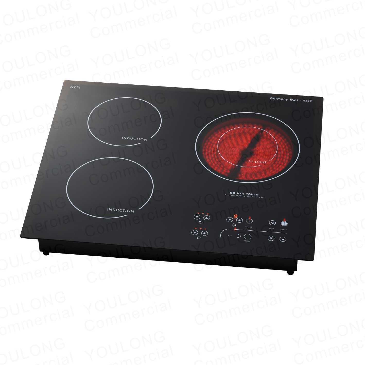 DIT-520A Mix 2 Burner Induction and 1 Burner Ceramic hob