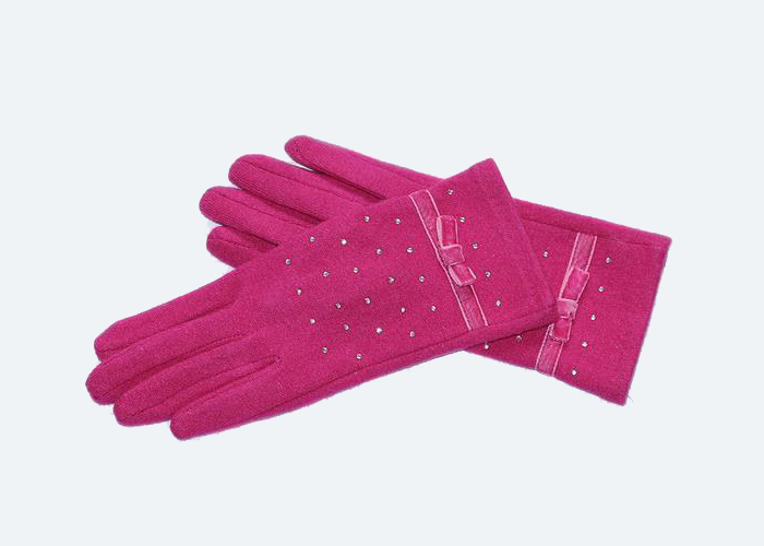 Autumn winter girls crystal diamond cashmere gloves touch-screen warmth export gloves phone touch sc