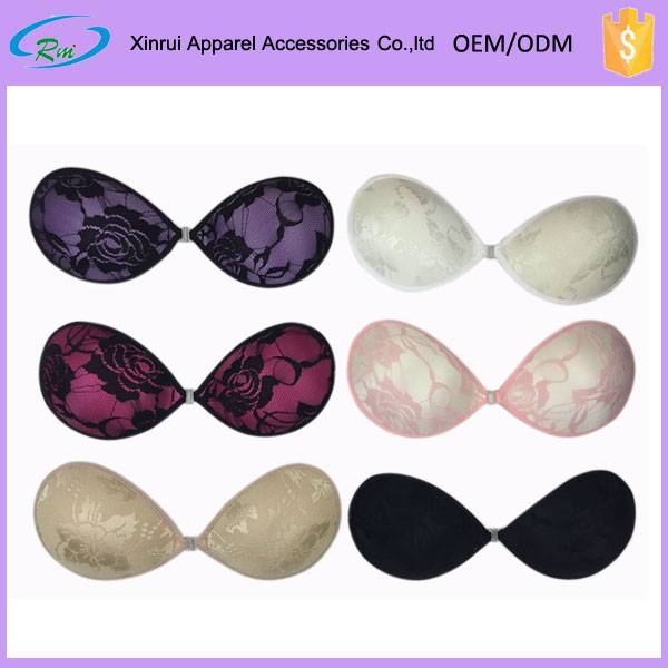 Backless strapless self adhesive lace invisible bra