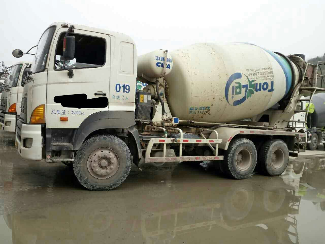 used Hinno dump truck 700 on sale for Concrete mixing machine