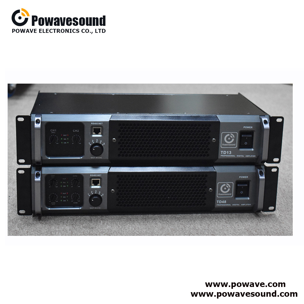 TD series Powavesound big power amplifier 2/4 channel class td amplifier quality sound