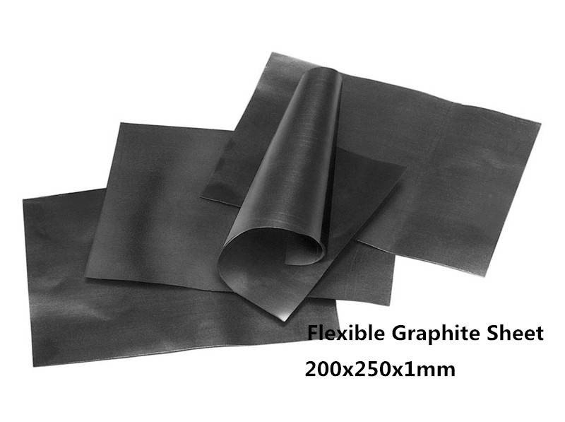 200x250x1mm Flexible Graphite Sheet 10pcs with high heat conducting Between STB C and heat sink or s