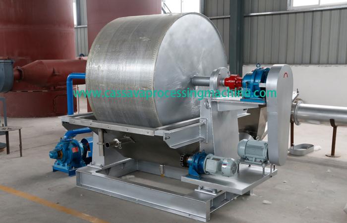 Vacuum dehydrator of potato starch equipment