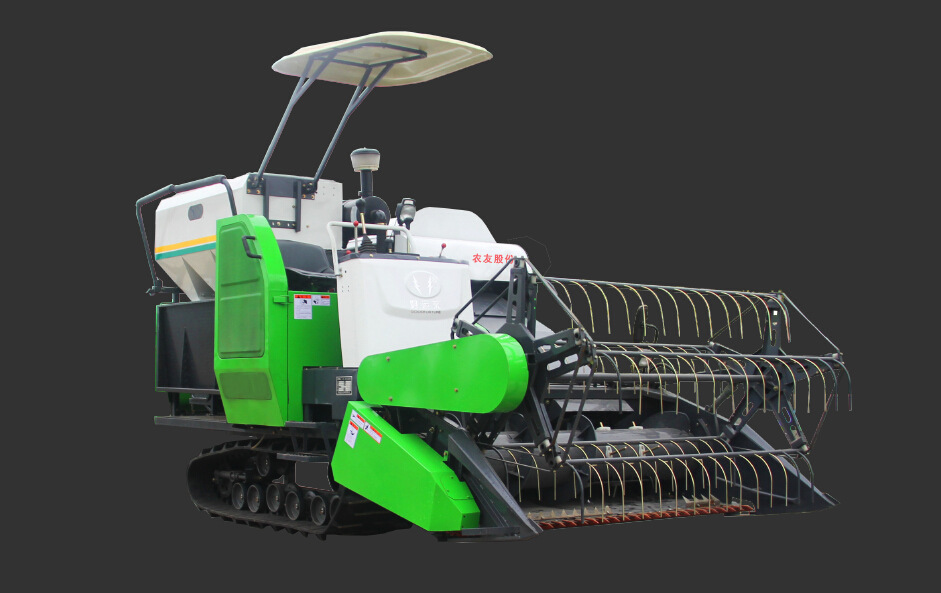 Combine Rice Harvester with Grain Tank 4LZ-4.0