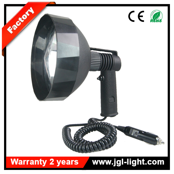 Very cheap price 100w halogen hunting lamp 175mm reflector 12v handheld hunting spotlight