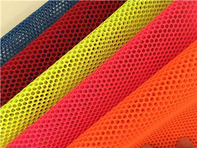 microfiber open polka dot mesh and fabric