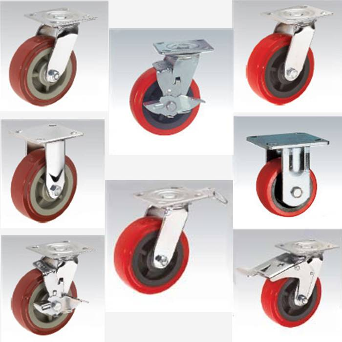 Heavy duty Caster pp caster pvc caster pu caster red