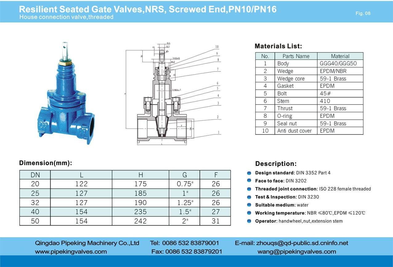 resilient seated gate valves