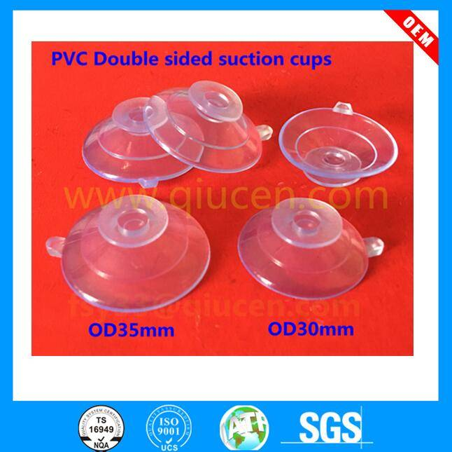 30mm 35mm High Quality Glass suction cup holder vacuum glass sucker plastic double sided suction cup
