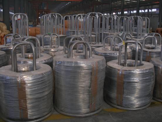 Pulp baling galvanized wire