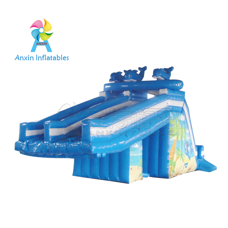 water park amusement Inflatable Water Slides, dolphins slide for water park