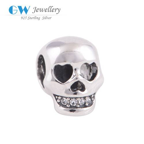 2016 New Design Online Shopping Skull Beads Silver 925 Charms Jewelry
