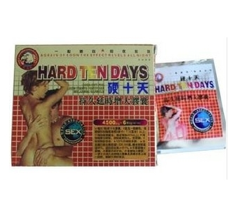 Hard Ten Days Herbal Male Enhancement Capsules for Long Lasting