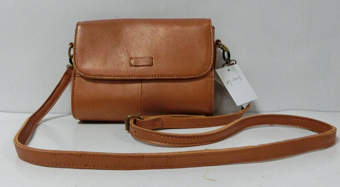 Tan leather shoulder bag handbag