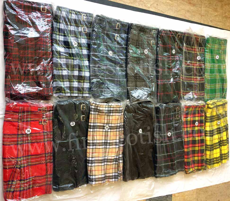 Acrylic Tartan Kilt, Heavy Wool Kilt