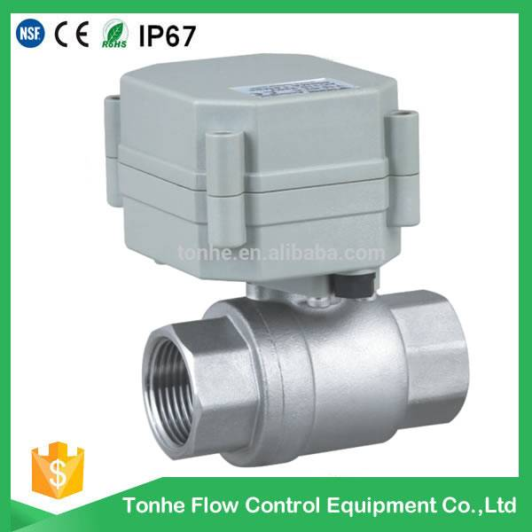2016 OEM ODM hotsale DN15 stainless steel electric motor water ball valve