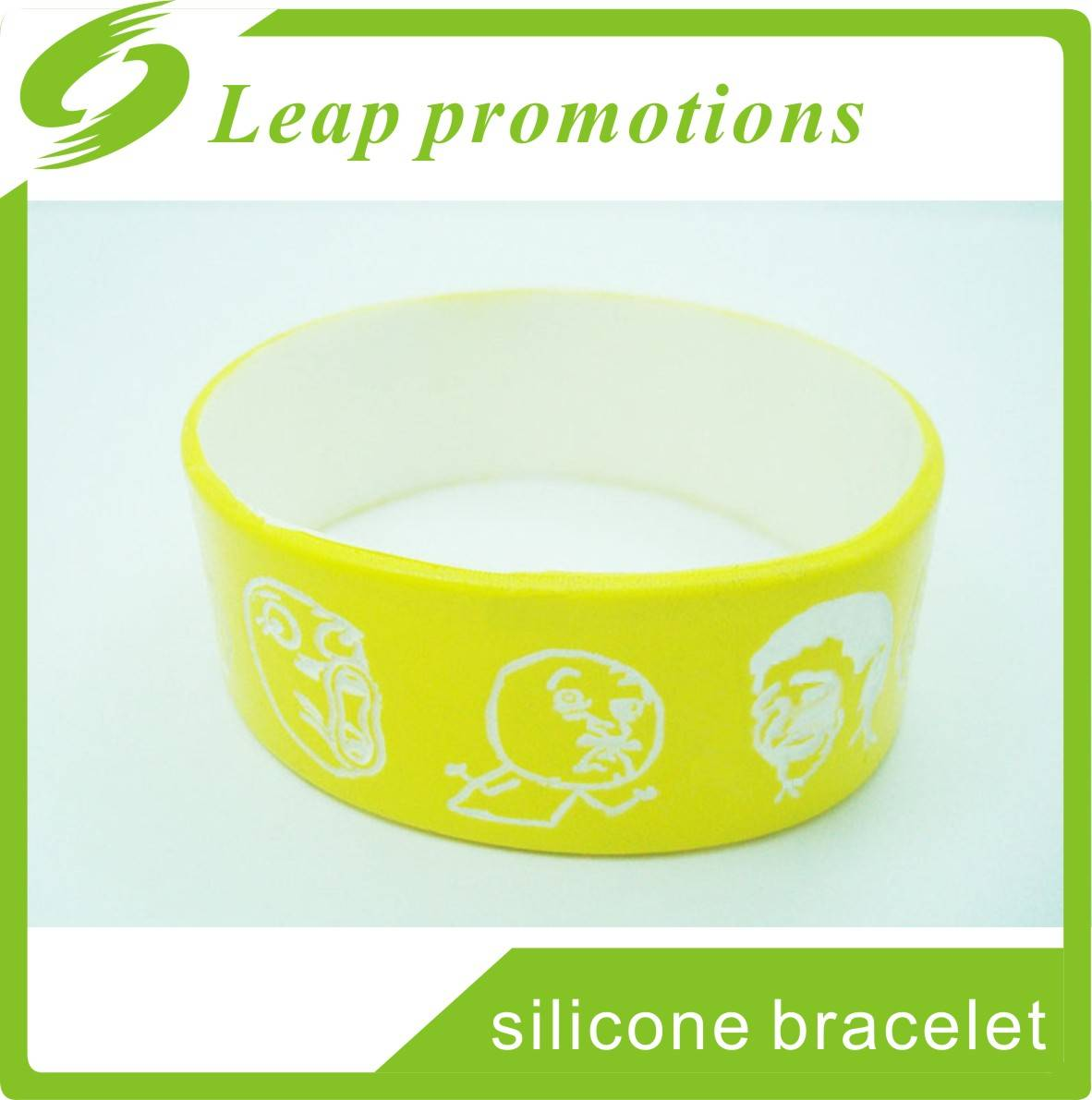 1 inch fat color painted silicon wristbands Top quality dual layer silicone wristband