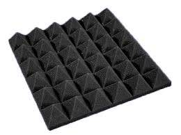 Self adhesive Pyramid Shaped sound absorption Acoustic Foam Panel