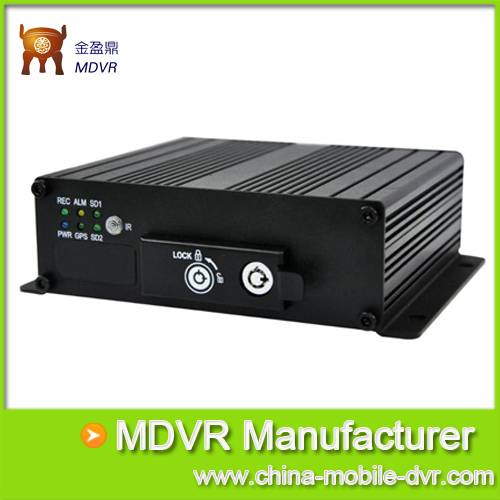 Dual SD Card  with GPS Mobile DVR Security System for Vehicle Security from China MDVR Manufacture