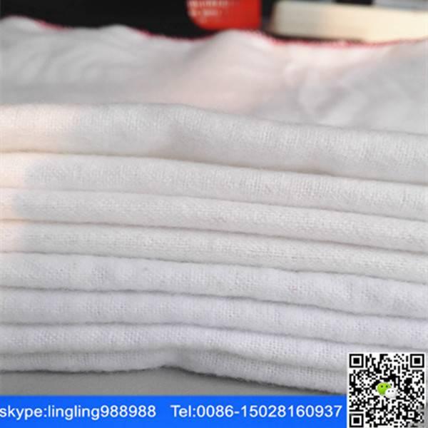 bleached cvc flannel fabric for car washing cloth