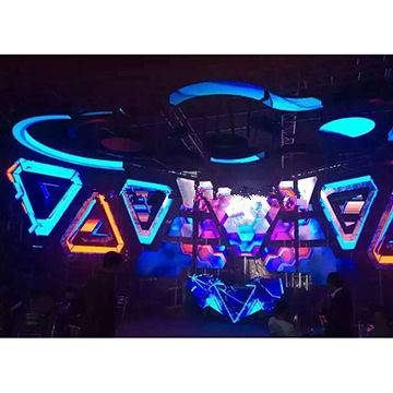 Nightclubs P4 LED ceiling/wall DJ booth