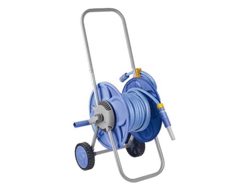 Hand push hose reel cart set